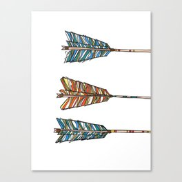 arrows all in  Canvas Print
