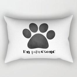 I'm Pawesome - Paw Print Rectangular Pillow