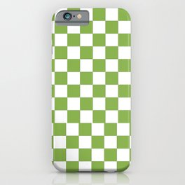 color of the year 2017  Greenery |checkerboard iPhone Case
