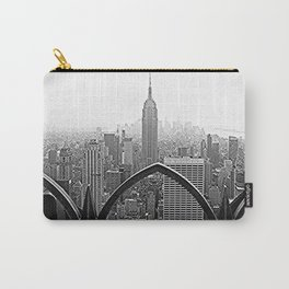 New York Skyline(Black and White) Carry-All Pouch