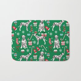 Dalmatian dog breed christmas holiday presents candy canes dalmatians dogs Bath Mat