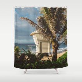 Hawaii Lifeguard Post Shower Curtain