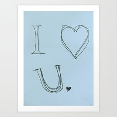 I Heart You, Baby Art Print