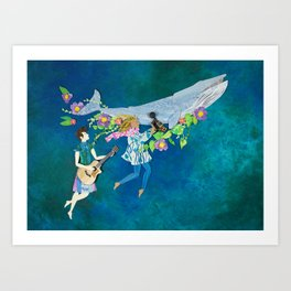 the bellow + the whale Art Print