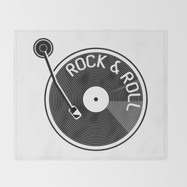 Rock & Roll Record Throw Blanket