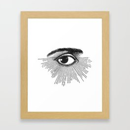 I See You. Black and White Framed Art Print