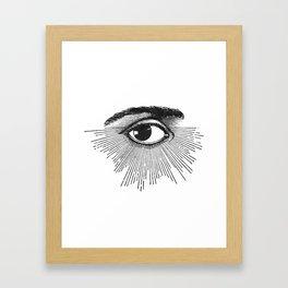 I See You. Black and White Framed Art Print
