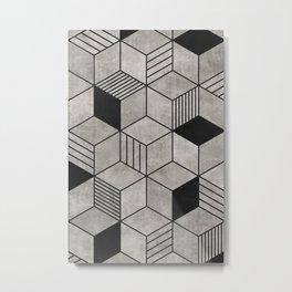 Concrete Cubes 2 Metal Print