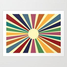 Sun Retro Art II Art Print