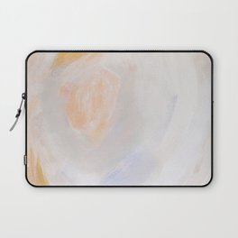 Chaos in Gold Abstract Art Laptop Sleeve
