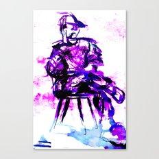 plum chair Canvas Print