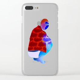 Alien Squat Clear iPhone Case