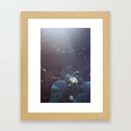 Elixir Blue Fairy Lights Framed Art Print