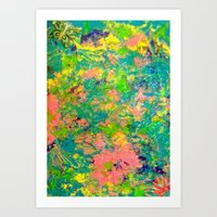 Abstract sparkle Art Print