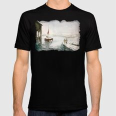 Fishing in Istanbul Mens Fitted Tee Black MEDIUM