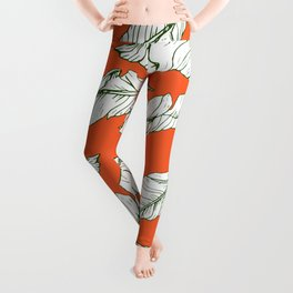 Leaf illustration Leggings
