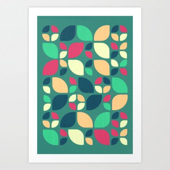Vintage Spring Pattern II Art Print