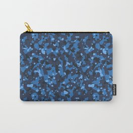 Blue Abstract Camouflage Carry-All Pouch