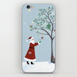 Santa Claus Dressing Tree iPhone Skin