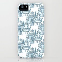 Buildings in Blue iPhone Case