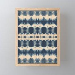 Indigo Beetle Shibori Framed Mini Art Print