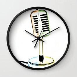 Retro Microphone Wall Clock