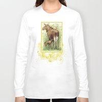 elk Long Sleeve T-shirts featuring Elk by Natalie Berman