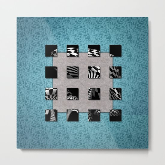 SQUARE AMBIENCE - Blue Sports Metal Print