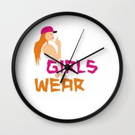 Bad Girls wear black 2 Wall Clock
