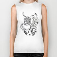 pisces Biker Tanks featuring Pisces by Heaven7