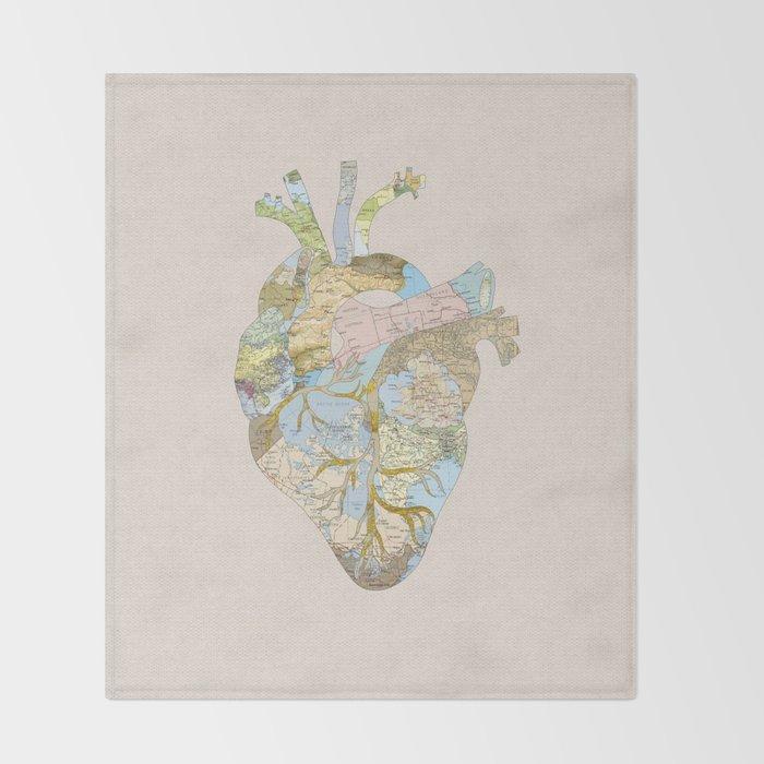 A Traveler's Heart (N.T) Throw Blanket