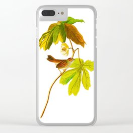 Swamp Sparrow Clear iPhone Case