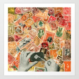 Stamp series no.4 Art Print