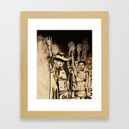 Paws Up! Framed Art Print