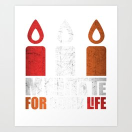 Distressed Candles Meditate For Better Life Art Print