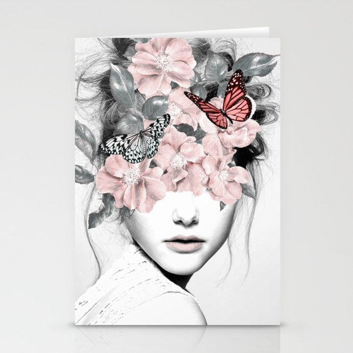 WOMAN WITH FLOWERS 10 Stationery Cards