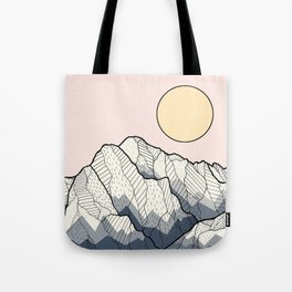 The sun and mountain Tote Bag