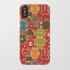 Robots on red. Slim Case iPhone X