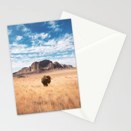 The Lonely Bison, Salt Lake City, Utah-Desert Landscape Stationery Cards