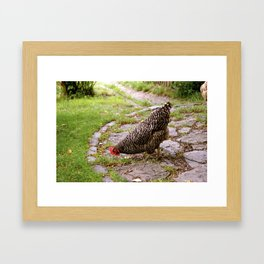 German Cafe Chicken Framed Art Print