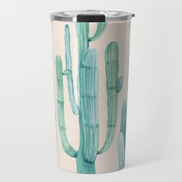 Three Amigos Turquoise + Coral Travel Mug
