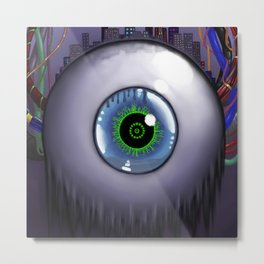 The City Is Watching Metal Print