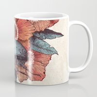 hercules Mugs featuring Hercules Beetle by Angela Rizza