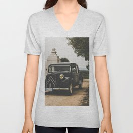 French car, fine art photography, Traction Avant, old auto, classic car, supercar, old car print Unisex V-Neck
