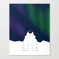 northern lights Canvas Prints featuring Northern Lights by The Animal Kingdom