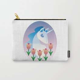Unicorns and tulips Carry-All Pouch