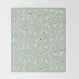 Raining Cats and Dogs Throw Blanket