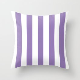 Lavender purple - solid color - white vertical lines pattern Throw Pillow
