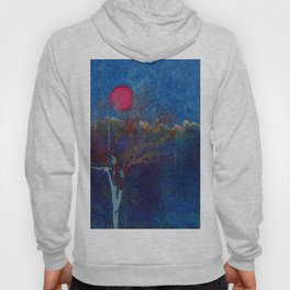Abstract watercolor landscape with tree Hoody