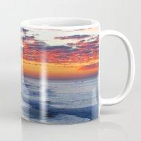 calendars Mugs featuring Sunrise Huntington Beach Pier   12/12/13 by John Minar Fine Art Photography